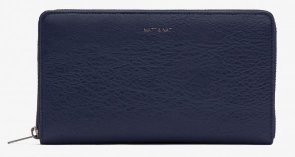 WOMENS NAVY BLUE TRIP WALLET BY MATT & NAT