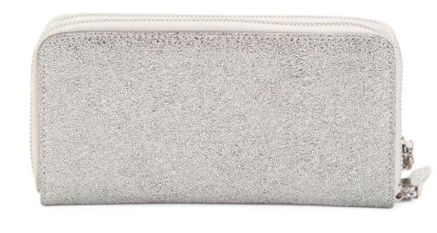 WOMENS SPARKLY SILVER STELLA CLUTCH WALLET BY SHIRALEAH