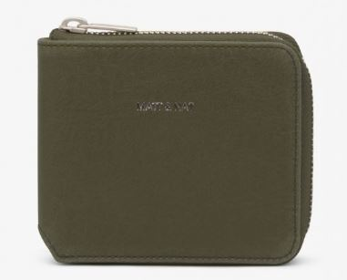 WOMENS VINTAGE COLLECTION OLIVE GREEN WATSON WALLET BY MATT & NAT