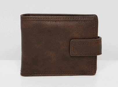 BROWN FAUX LEATHER WALLET FROM NEW LOOK