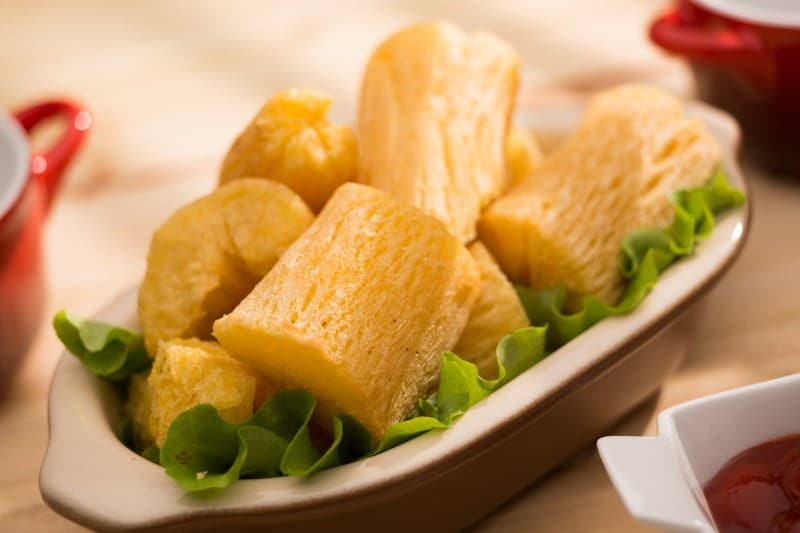 Fried Yucca in a bowl