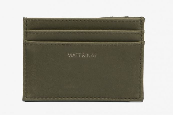 VINTAGE INSPIRED OLIVE GREEN VEGAN LEATHER MAX WALLET BY MATT & NAT