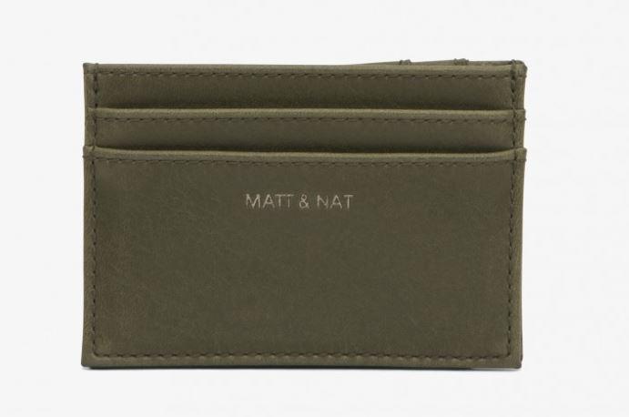 matt and natt vegan olive vegan wallet