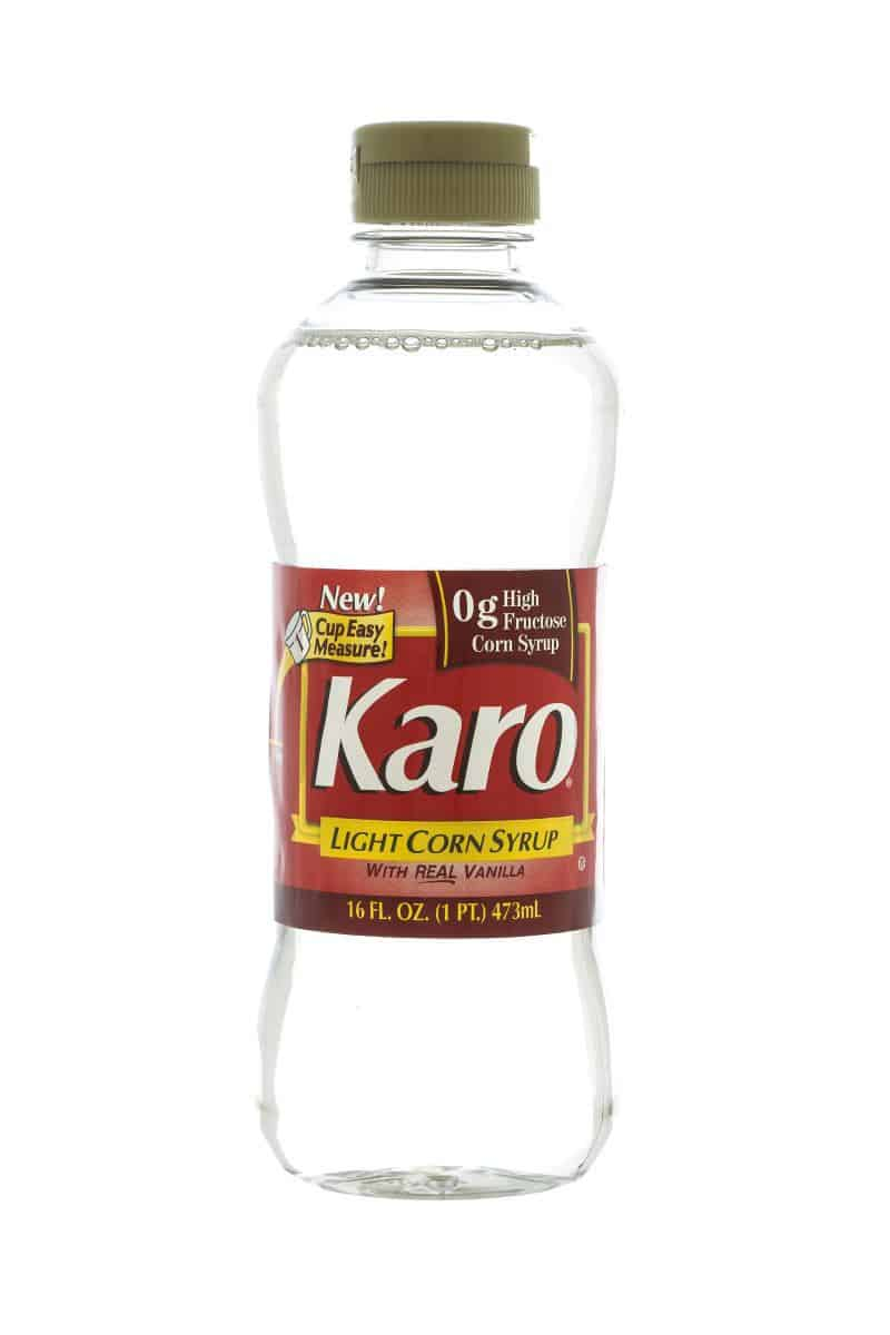 A bottle of Karo Light Corn Syrup.
