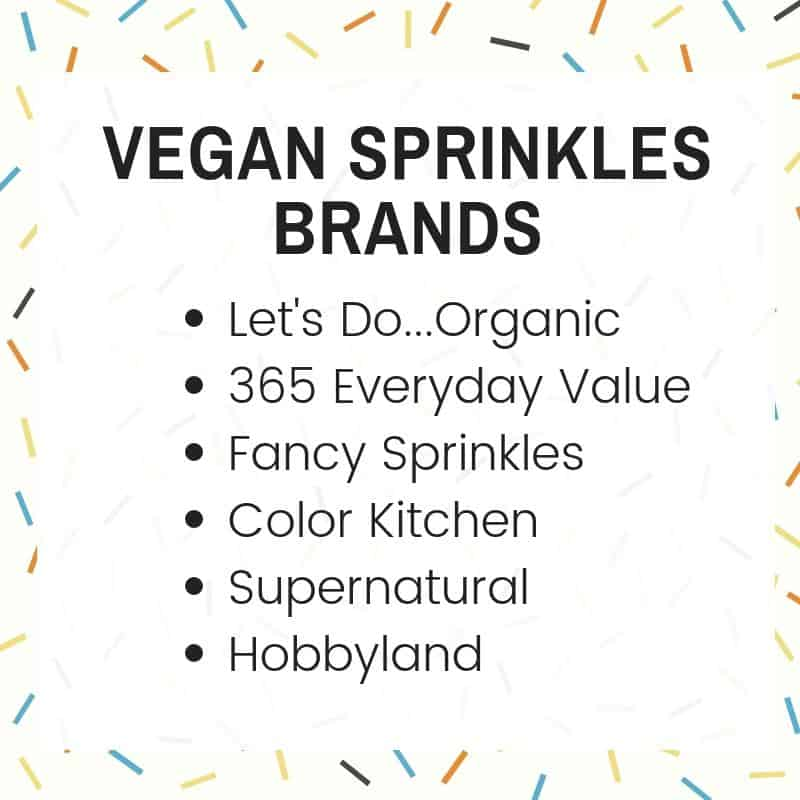 LIST OF VEGAN SPRINKLES BRANDS
