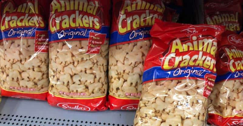 bag of stauffers animal crackers on shelf