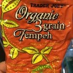 block of 3 grain tempeh from trader joes