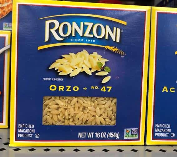 box of orzo