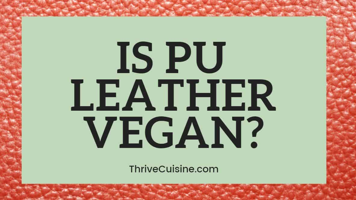 IS PU LEATHER VEGAN