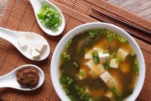 tofu in a soup