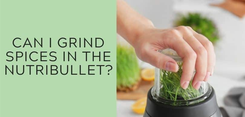 Can I grind spices in the nutribullet?