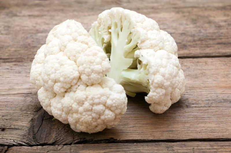Cauliflower cut into large florets