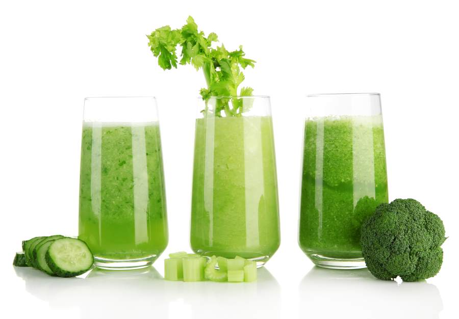 fresh green juice from ninja blender