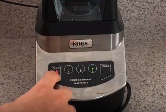 pressing start on ninja blender