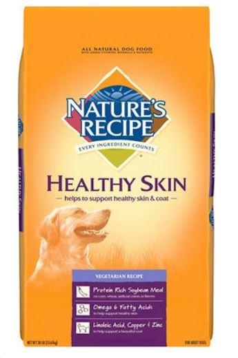 Natures Recipe Healthy Skin Vegetarian Recipe Dry Dog Food, 30-lb bag