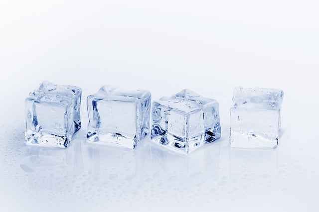 four ice cubes