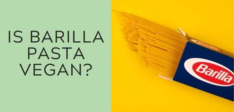 is barilla pasta vegan