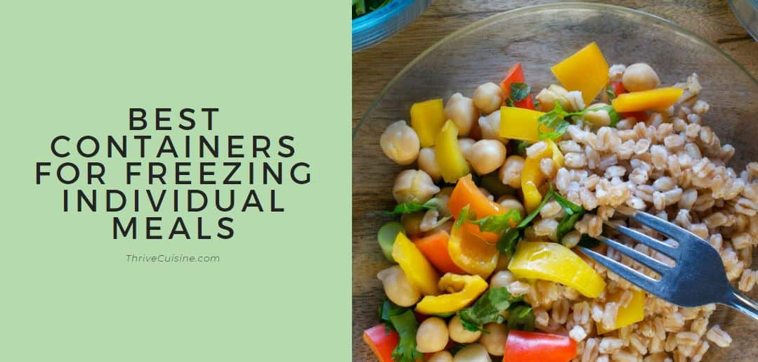 best container for freezing individual meals