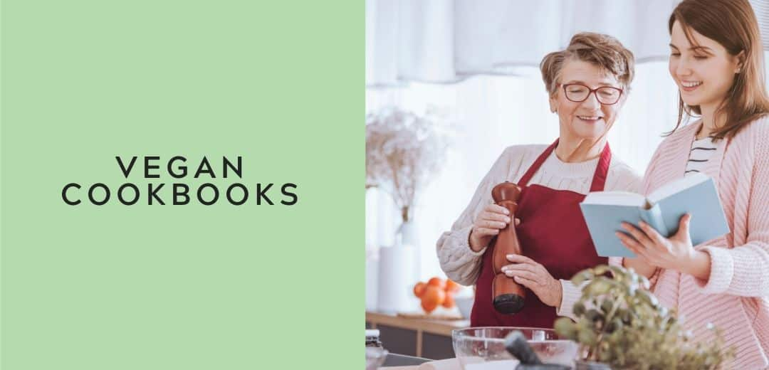 vegan cookbooks graphic