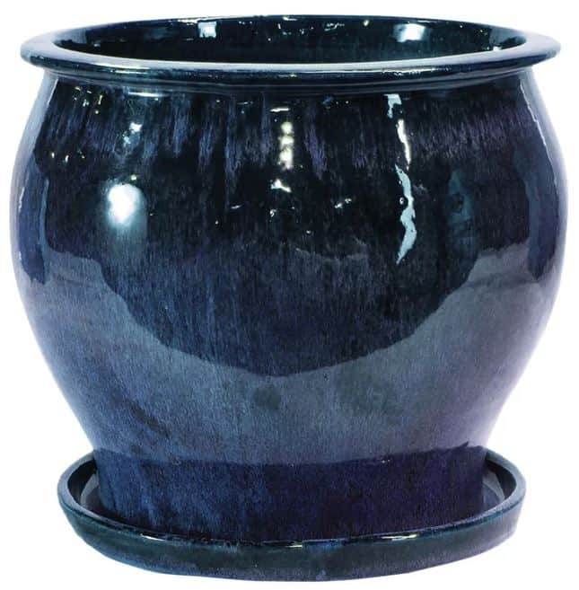 Newcomb Glazed Ceramic Planter