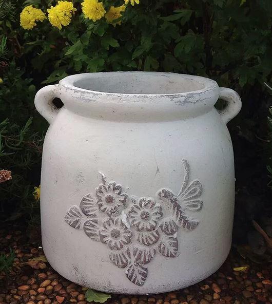 Pumphrey Hand Pressed Ancient Stressed Terracotta Pot Planter