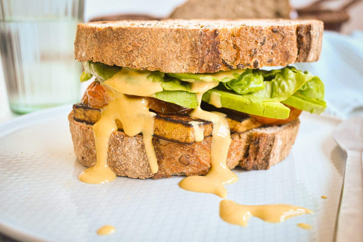 Balsamic Tofu Sandwich 4