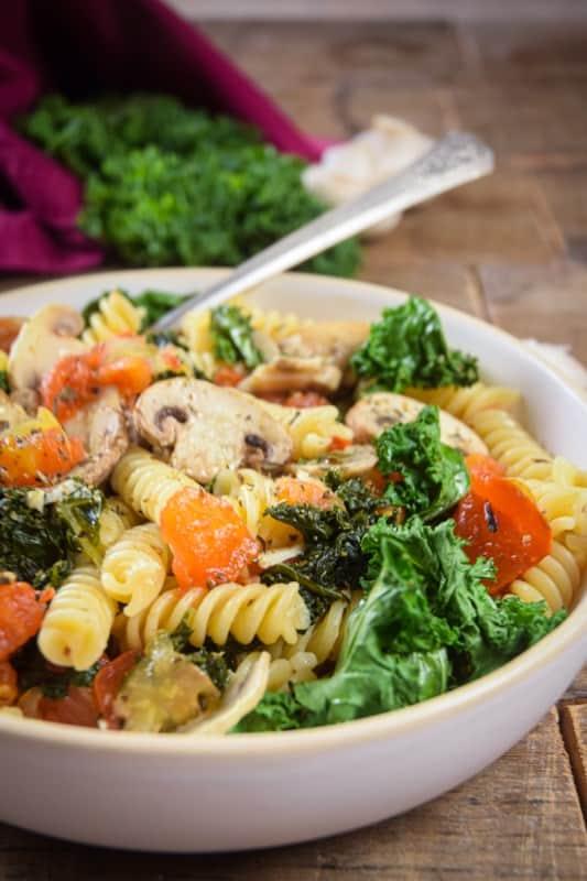 Mushroom Fusilli Pasta 3