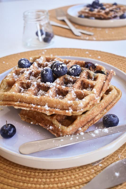 Vegan Blueberry Waffles-2