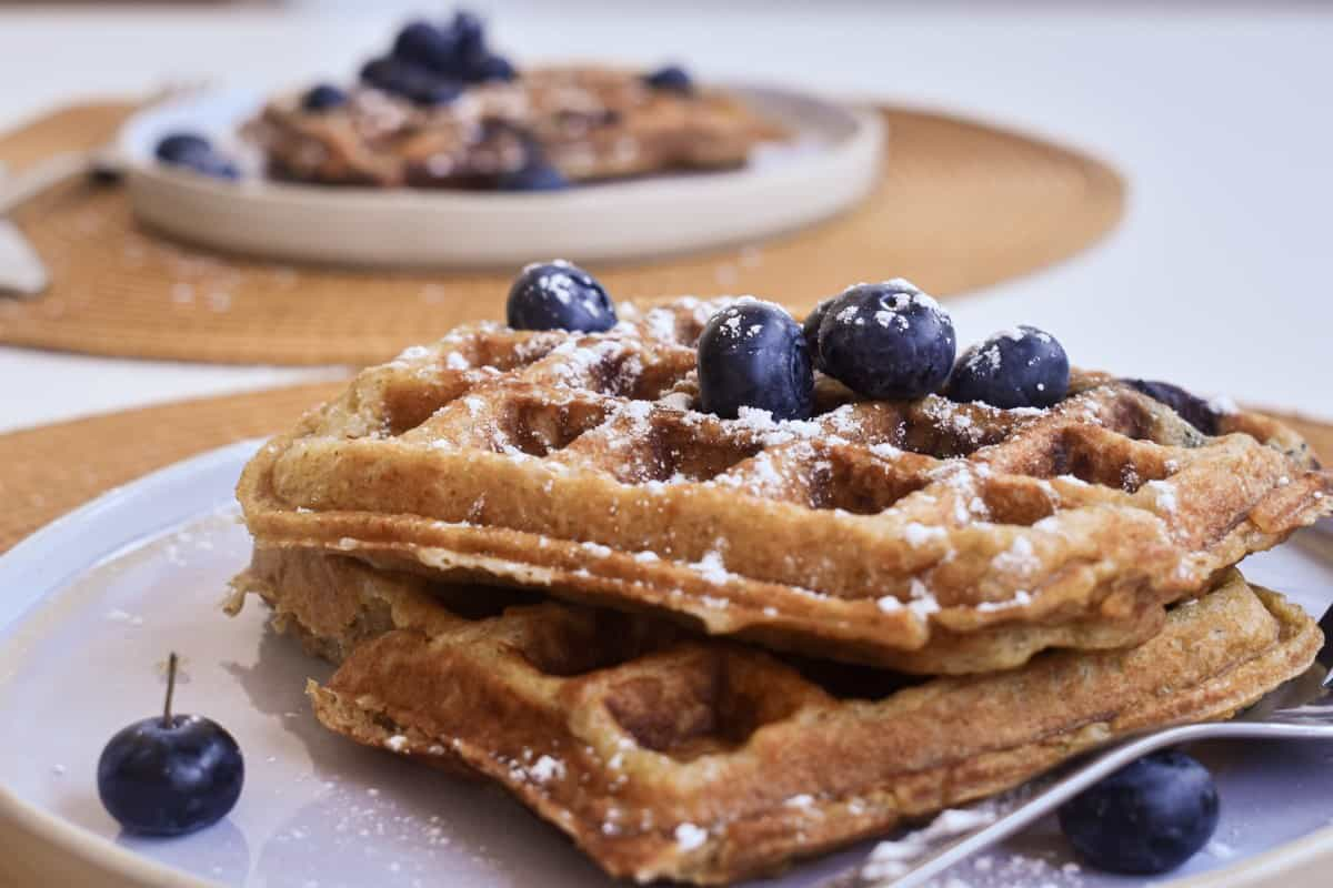 Vegan Blueberry Waffles-3