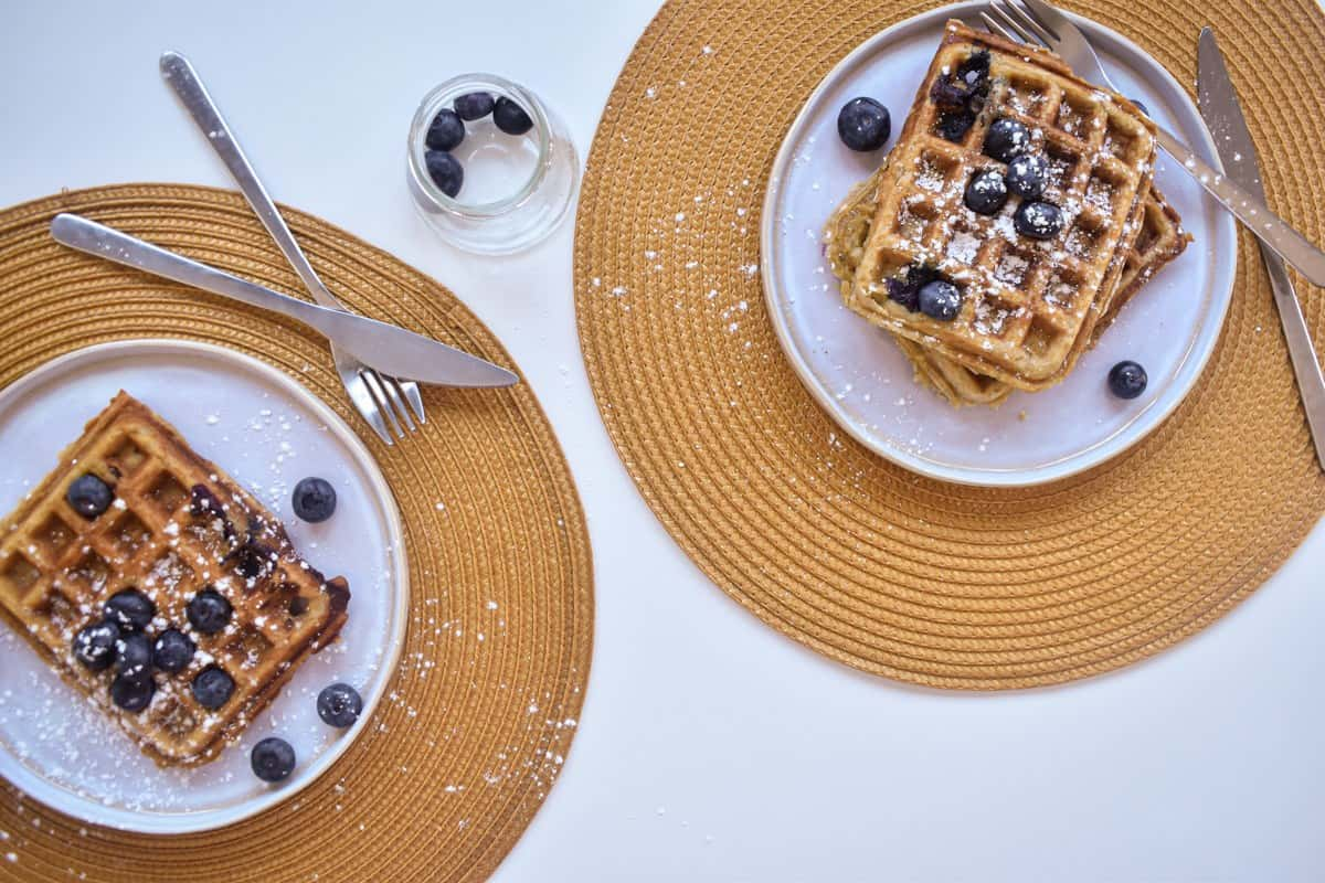 Vegan Blueberry Waffles-4