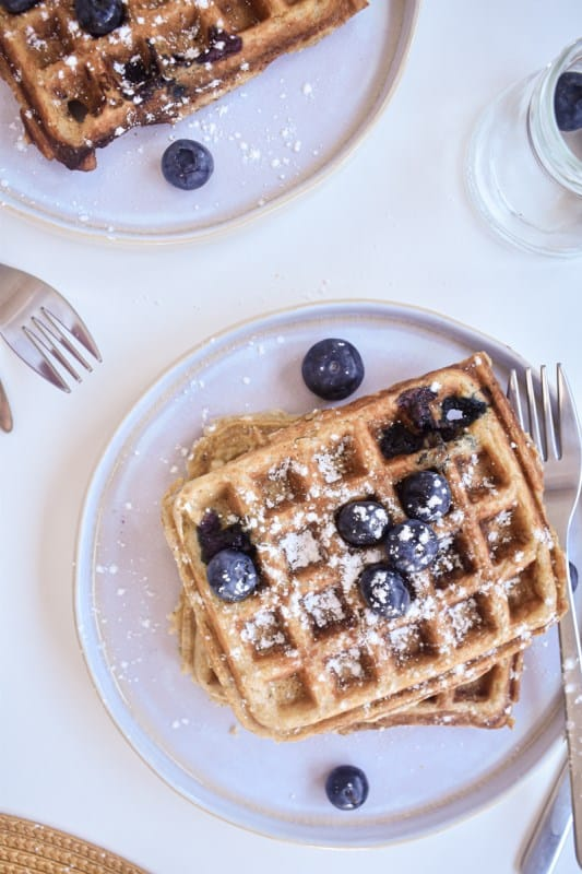 Vegan Blueberry Waffles-6