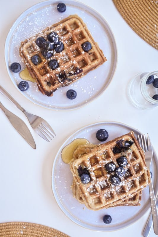 Vegan Blueberry Waffles-7