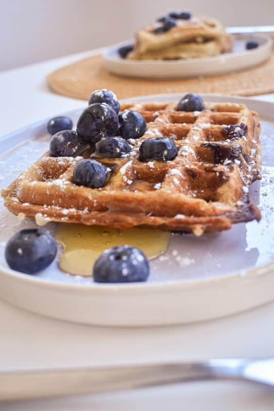 Vegan Blueberry Waffles-8