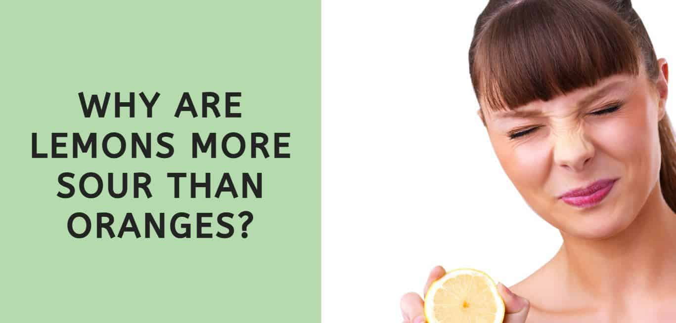 Why are Lemons more Sour than Oranges?