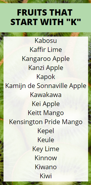 Fruits that Start with K