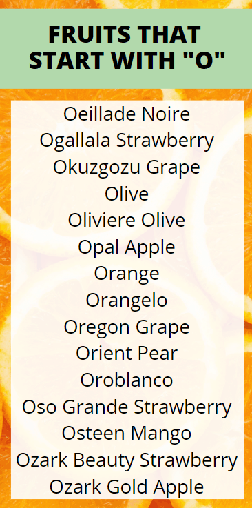 Fruits that Start with O