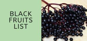 Black Fruits List