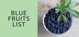 Blue Fruits List