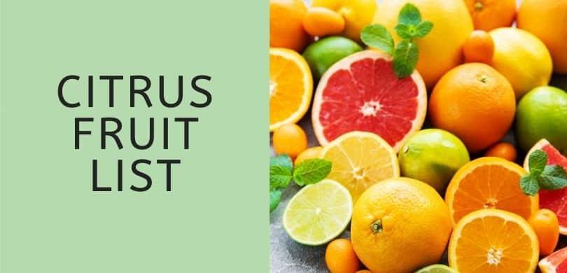 Citrus Fruit List