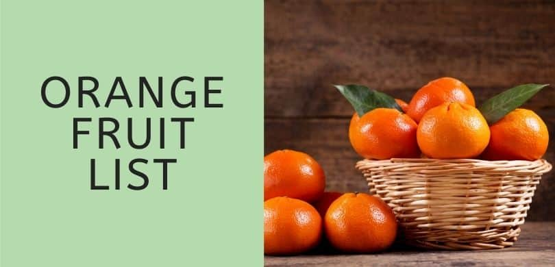 Orange Fruit List