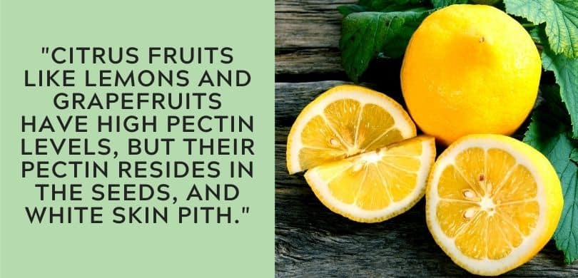 Citrus Fruits high in pectin