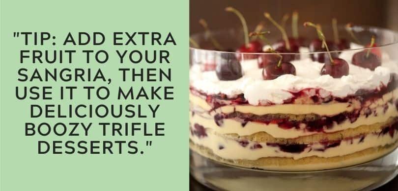 Sangria Trifle