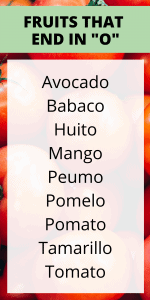 FRUITS THAT START IN O
