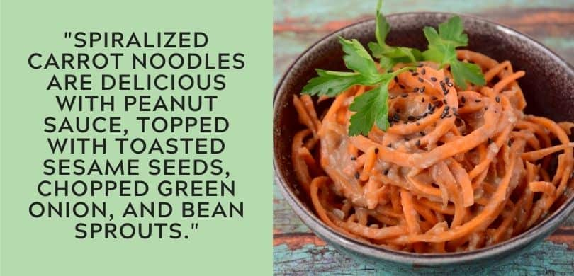 Carrot Noodles with peanut sauce
