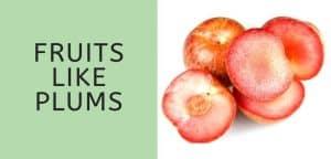 Fruits Like Plums