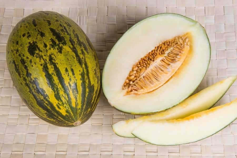 Christmas melon sliced
