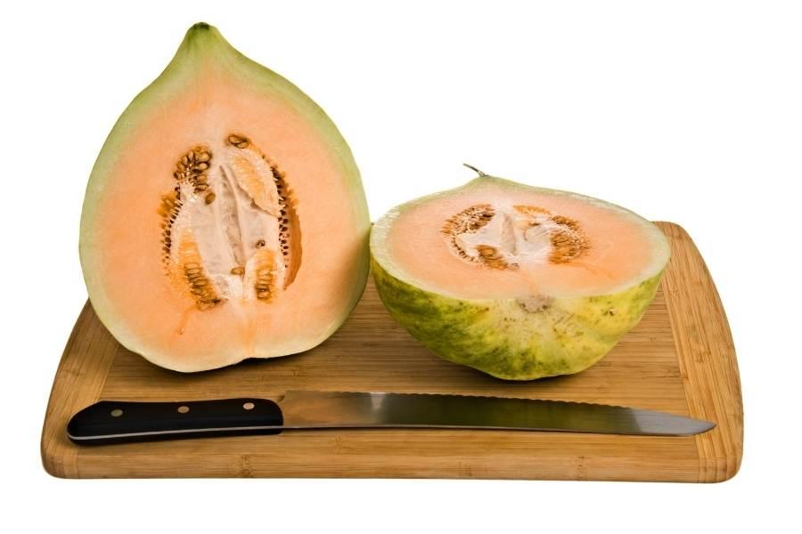 Crenshaw melon half