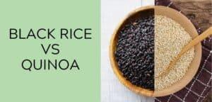 Black Rice VS Quinoa