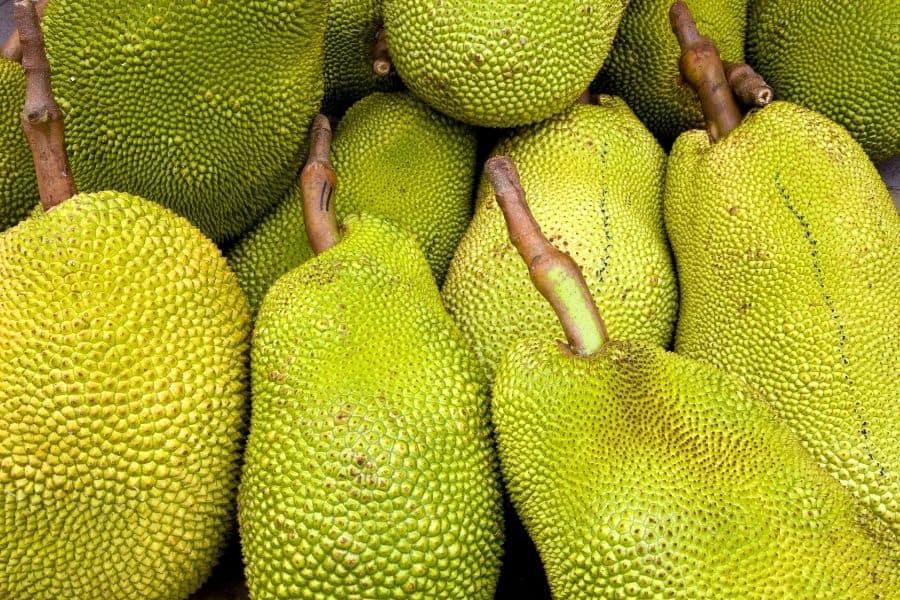 jackfruits stacked