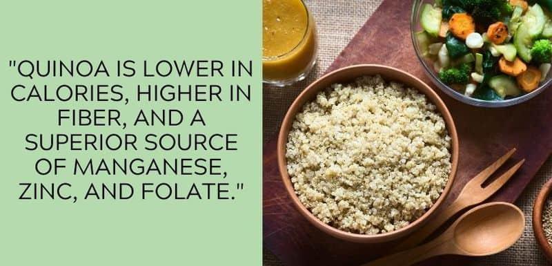 quinoa high in fiber